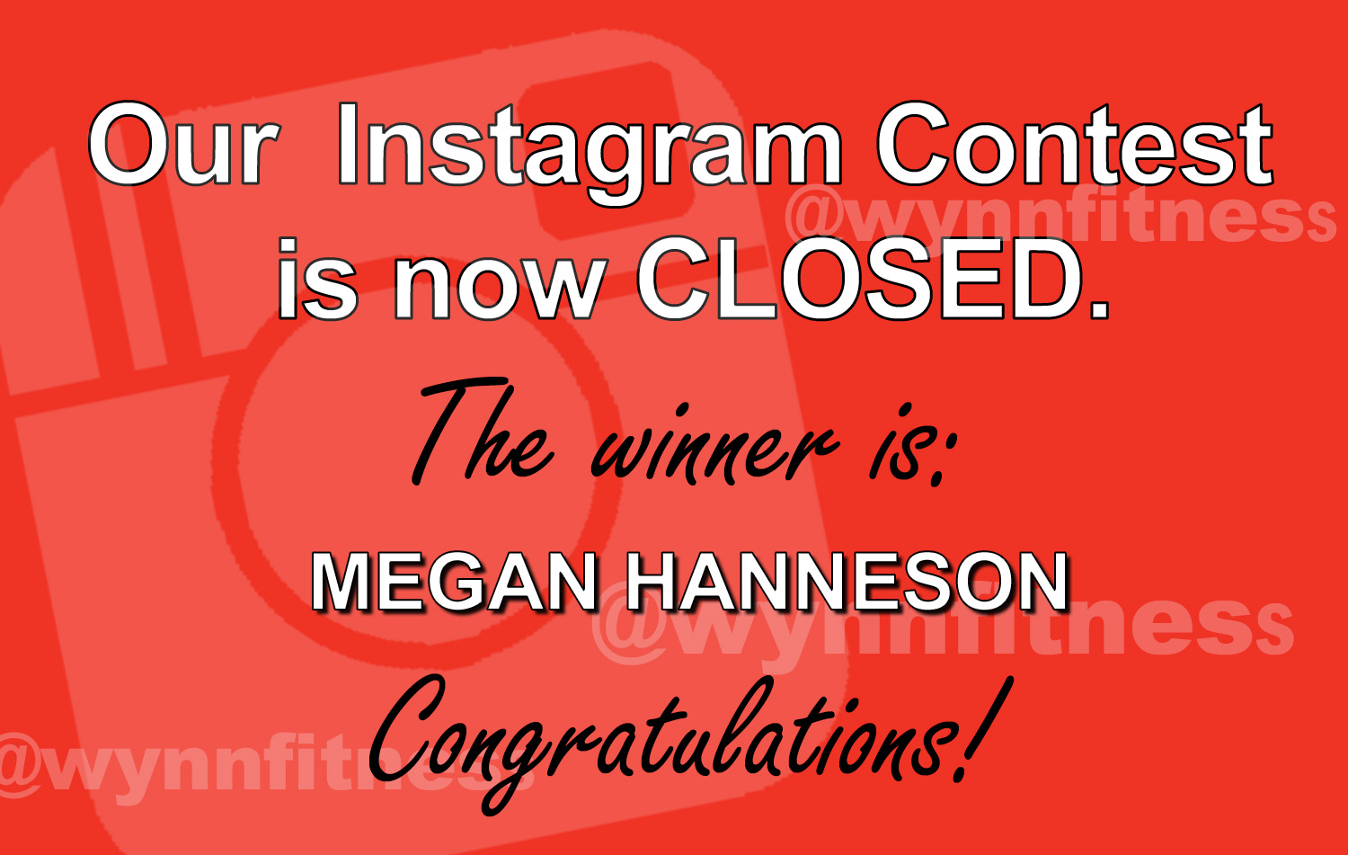 Instagram Contest is now closed and the winner is